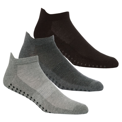 Mens Gripper Sole Sport Trainer Socks Plain