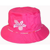Ladies Embroidered Flower Hat