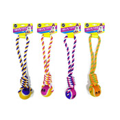 Pet Twisted Rope & Ball Tugger Toy