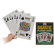 Gigantic Plastic Coated Playing Cards