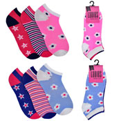 Ladies Trainer Socks Mixed Designs
