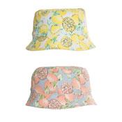 Girls Lemon Print Bush Hat