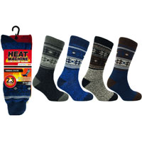 Mens Heat Machine Thermal Socks Snowflakes 2.3 Tog