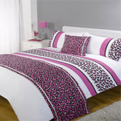 5 Piece Bed in a Bag Set Leopard Pink