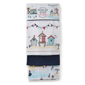 Beside The Seaside Tea Towels 3 Pack