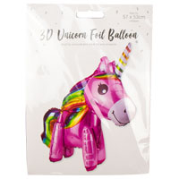 Unicorn 3D Foil Balloon