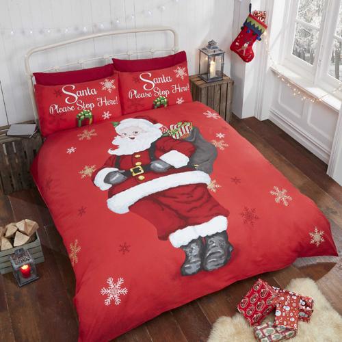 Please Stop Here Christmas Duvet Set
