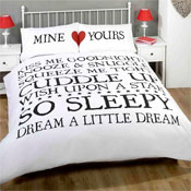 Mine & Yours White Duvet Set