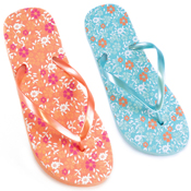 Ladies Hawaiian Floral Flip Flops