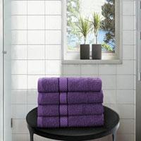 4 Pack Hand Towels Dickens Purple