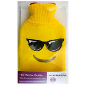 Emoticon Knitted Hot Water Bottle Cover