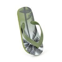 Boys Palm Tree Print Flip Flops Green