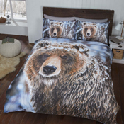 Brown Bear Christmas Duvet Set