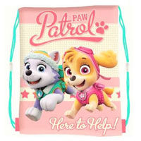 Official Paw Patrol Skye Pull String Bag
