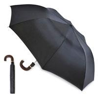 Mens Auto Folding Umbrella - Black