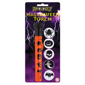 Spooky Halloween Torch With Image Covers