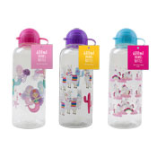 Decorated Drinks Bottle 3 Assorted