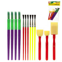 Paintbrush And Sponge Set 13 Pack