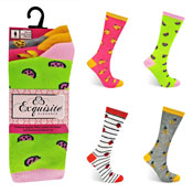Ladies Exquisite Computer Socks Tutti Fruity Carton Price