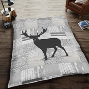 Mink Faux Fur Throw Grey Deer