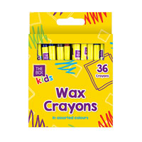 Wax Crayons Assorted Colours 36 Pack