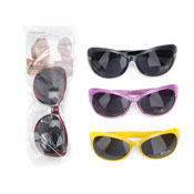 Ladies Deluxe Pear Shape Plastic Sunglasses