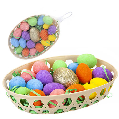 Golden Easter Egg Hunt Set In Basket