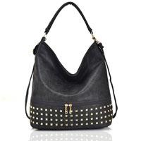 Adette Stud Bag Dark Grey