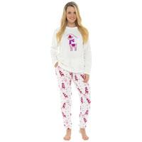 Ladies Llama Fleece Pyjama Set