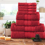 Luxurious 8 Piece Towel Bale Set Red