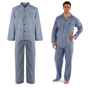 Mens Woven Stripes Pyjamas