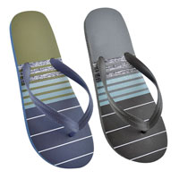 Mens Striped Flip Flops