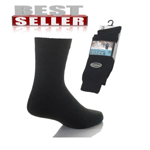 Ladies Thermal Socks Brushed Dark Assorted