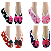 Cozees Ladies Sherpa Dots Slippers