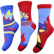 Official Boys Fireman Sam Character Socks