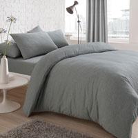 Jersey Melange Grey Duvet Set