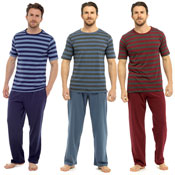 Mens Striped Short Sleeve Pyjama Set