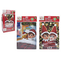 Elf Design Jigsaw With Wood Frame