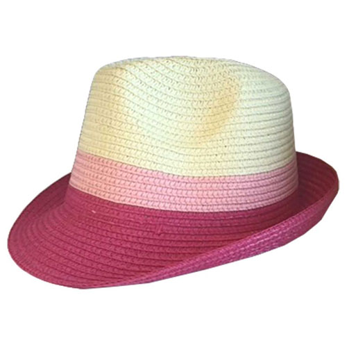 Two Tone Pink Trilby Hat