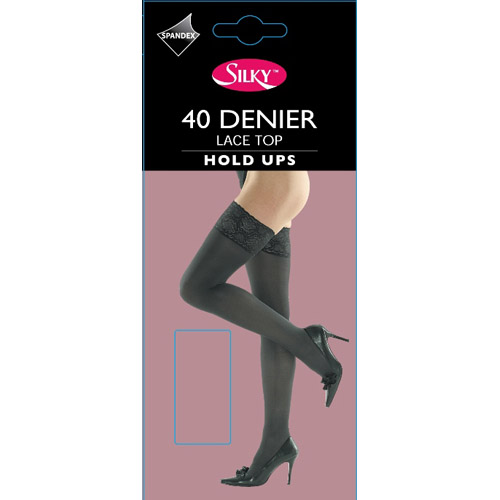 40 Denier Lace Top Hold Ups
