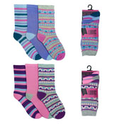Ladies Assorted Designs Socks