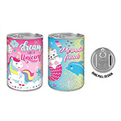 Unicorn/Mermaid Design Tin Money Box