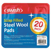 Soap Filled Steal Wool Pads 20 Pack
