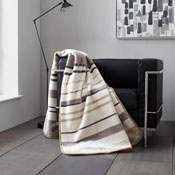Faux Mink Throws Bertie Stripe Natural