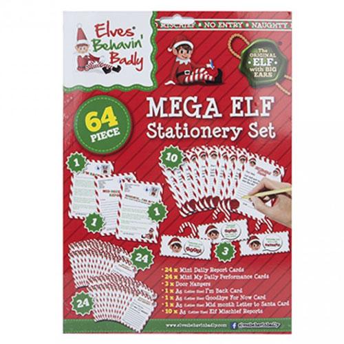 Christmas Elf Design Stationery Set