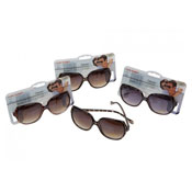 Ladies Demi Frame Fashion Sunglasses