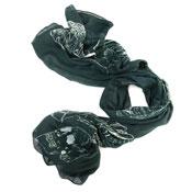 Ladies Summer Scarf Shawl Printed Skull