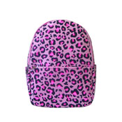 Leopard Front Pocket Backpack Pink
