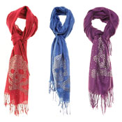 Fashion Scarf Ruby Cross Bones