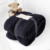 Supersoft Snug Teddy Throw Black